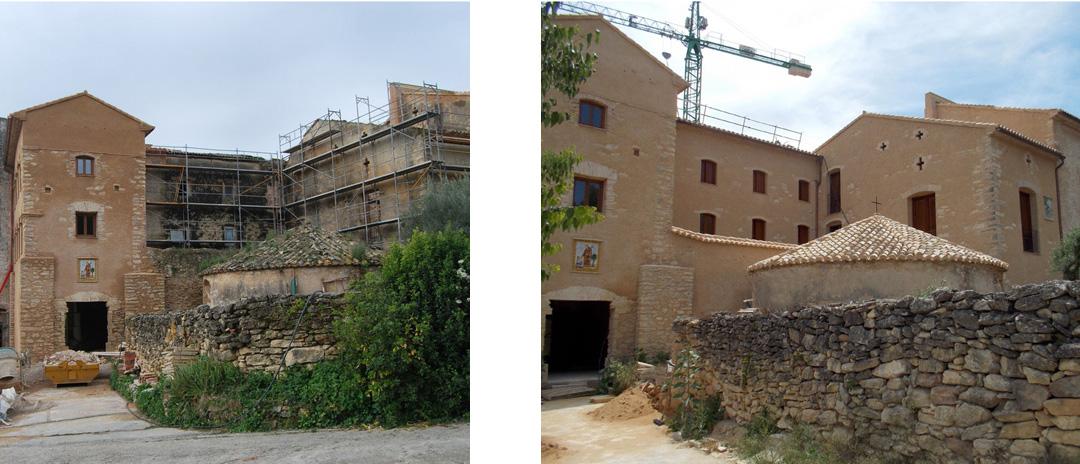 Convento S. Francisco en Beniganim. Fachada Norte rehabilitación por COPRUSA Ingeniería y Construcción, SLU