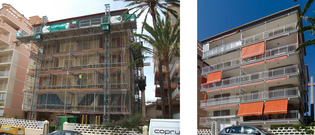 Rehabilitación fachadas en Gandia