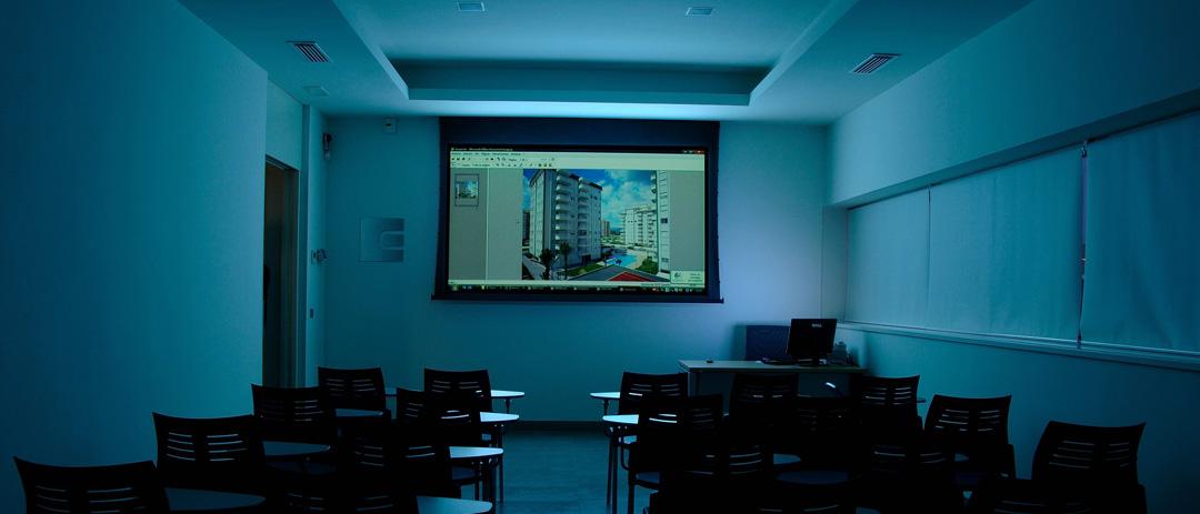 Proyecto Sala de Formación, constructora en Gandia COPRUSA Ingeniería y Construcción, SLU